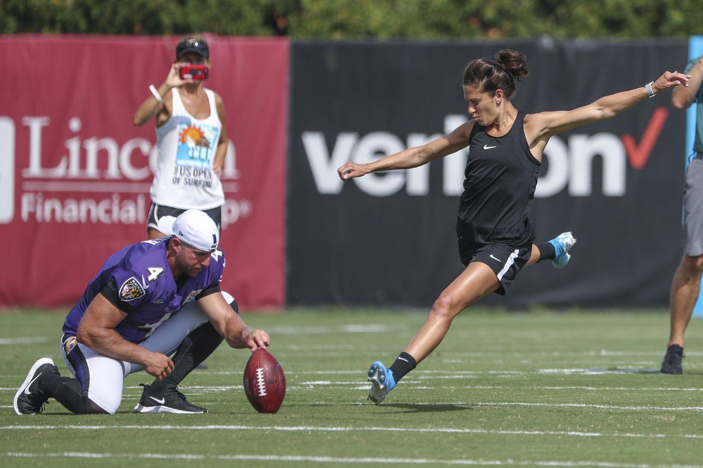 Carli Lloyd field goal NFL