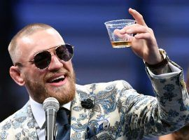 Conor McGregor was caught on video throwing a punch at a Dublin pub, possibly over a man's refusal to try his brand of whiskey. (Image: Ethan Miller/Getty)