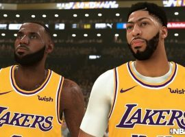 Newly acquired member of the LA Lakers, Anthony Davis (right), is featured on this year's cover for NBA 2K20. (Image: Y2K Sports)