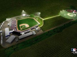 "Artist rendering of the new stadium for the ""Field of Dreams"" game in Iowa. (Image: MLB)"