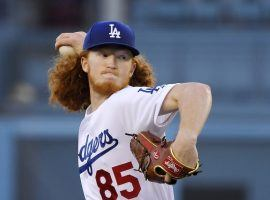 Rookie pitcher Dustin May makes his major league debut for the Dodgers at Dodger Stadium in LA. (Image: Mark J. Terrill/AP)