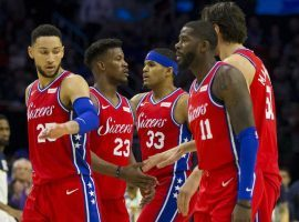 One bettor is wagering more than $100,000 that the Philadelphia 76ers will make the playoffs next season. (Image: AFP)