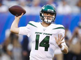 QB Sam Darnold during a preseason game against the NY Giants at MetLife Stadium. (Image: AP)