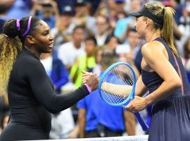 Serena Williams blasted Maria Sharapova 6-1, 6-1 in their first round matchup at the US Open on Monday. (Image: Robert Deutsch/Reuters)