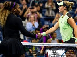 Serena Williams (left) advanced to the third round of the 2019 US Open, but not without a serious test from teenager Caty McNally (right). (Image: Getty)