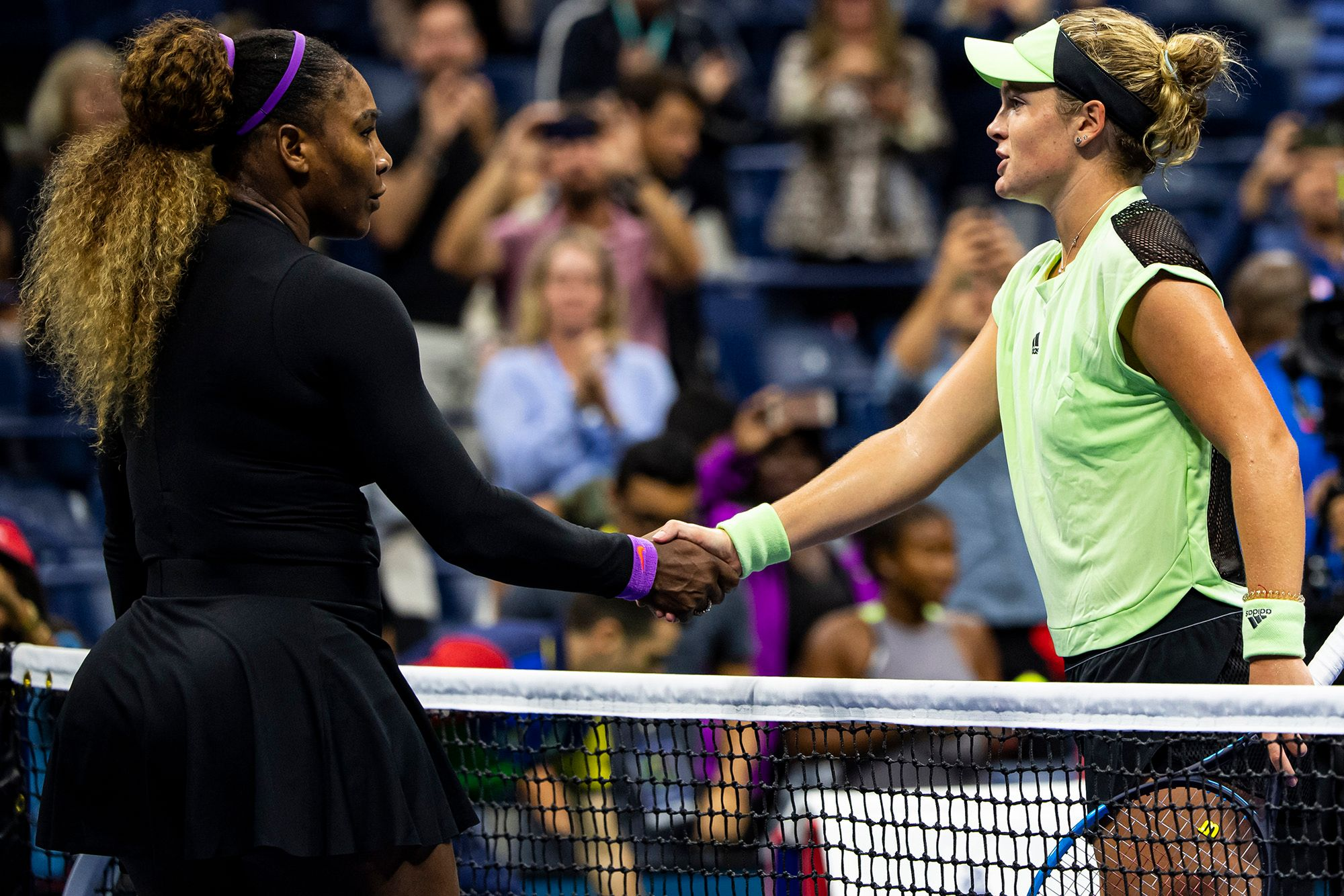 Serena Williams and Caty McNally at the US Open