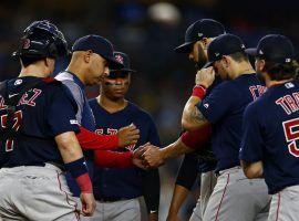 Red Sox manager Alex Cora removes starting pitcher David Price at Yankee Stadium. (Image: Adam Hunger/AP)