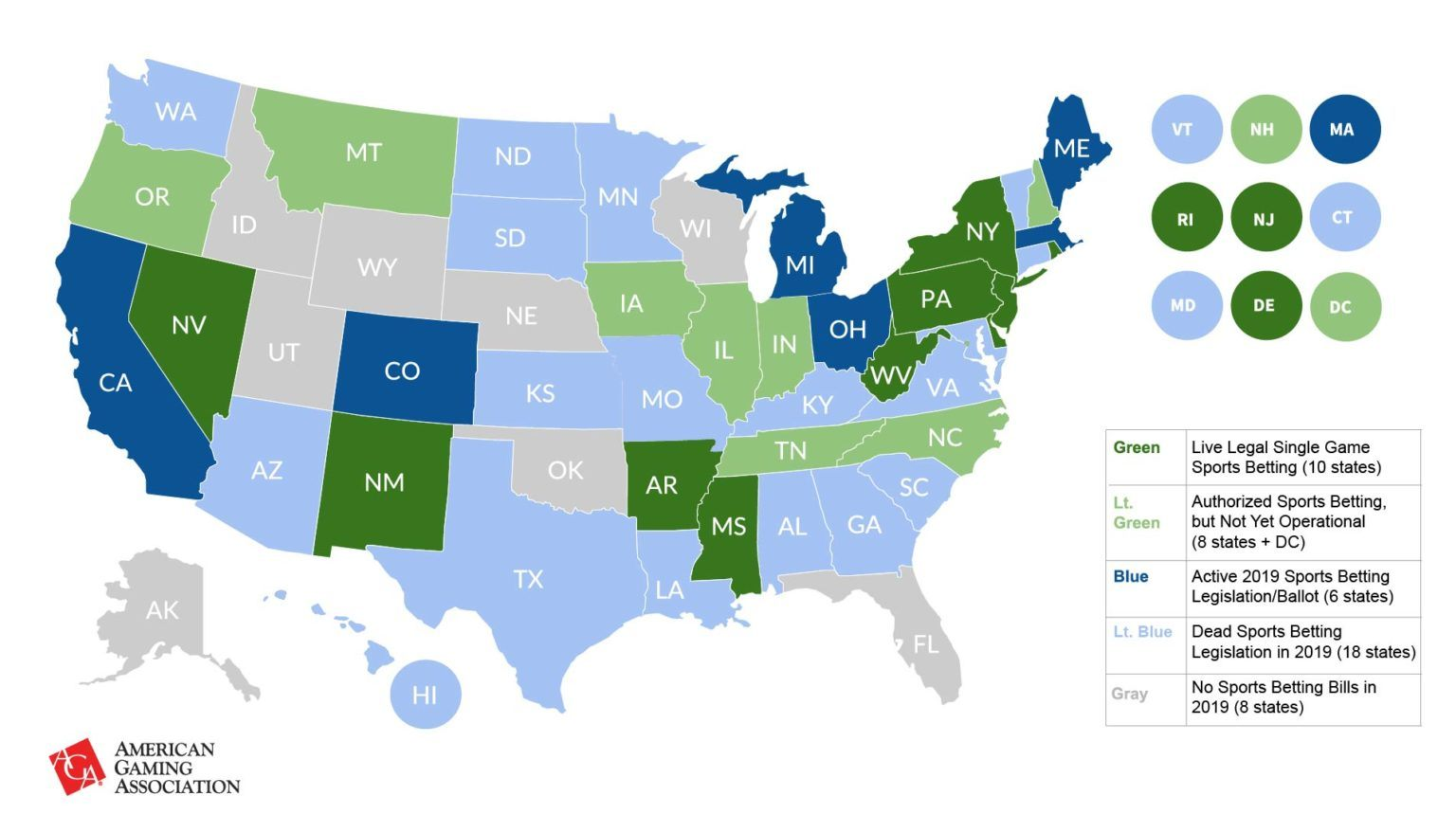 AGA state by state sports betting