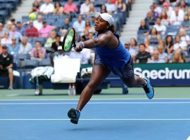 Taylor Townsend earned the biggest win of her career when she defeated Simona Halep in the second round of the US Open. (Image: Getty)