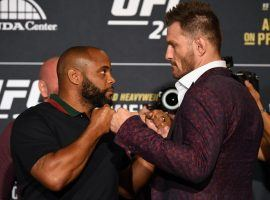 aniel Cormier (left) will attempt to defend his UFC heavyweight title in a rematch against Stipe Miocic (right) at UFC 241. (Image: Josh Hedges/Zuffa)