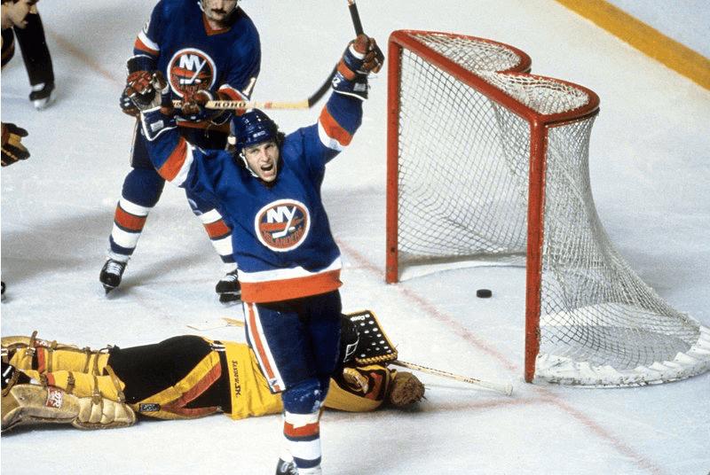 Mike Bossy beating Richard Brodeur in 1983