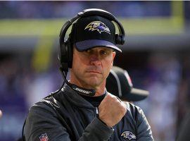 Baltimore head coach John Harbaugh has an incredible 14-0 record in the preseason, and his team is favored to beat Green Bay on Thursday in NFL preseason Week 2. (Image: USA Today Sports)