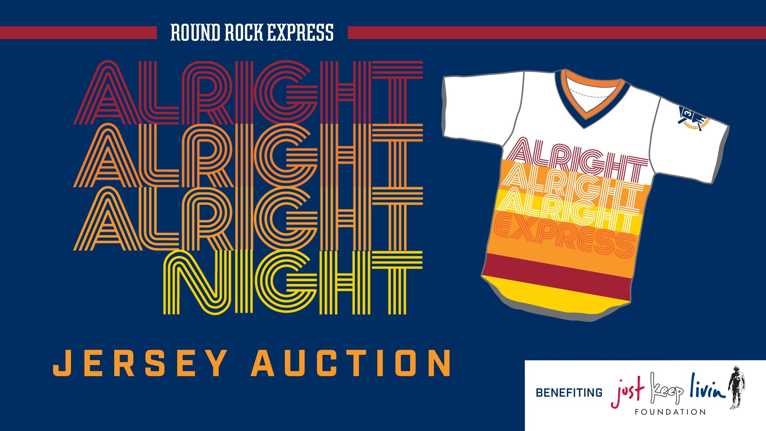 Round Rock Express Alright Alright Alright Jersey Auction