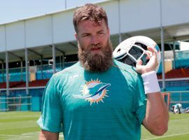 Ryan Fitzpatrick will have the opportunity on Friday to show Miami coach Brian Flores he should be the starting quarterback. (Image: AP)
