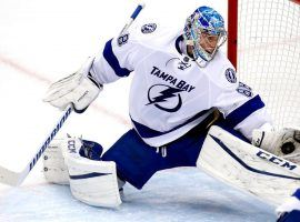 Tampa Bay Lightning goalie Andrei Vasilevskiy is looking for a Stanley Cup this season, and his team is the favorite to win it. (Image: Getty)