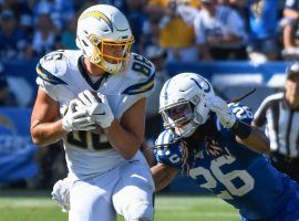 LA Chargers tight end Hunter Henry makes a catch against the Indianapolis Colts in Week 1. (Image: Robert Hanashiro/USA Today Sports)