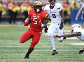 Maryland running back Anthony McFarland rushes for a touchdown over Temple. (Image: Maryland Athletics)
