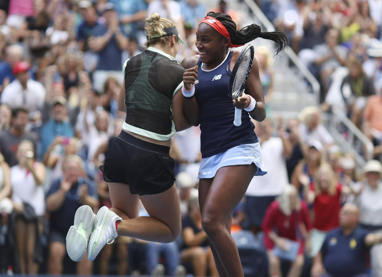 Coco and Caty McNally, McCoco, at US Open
