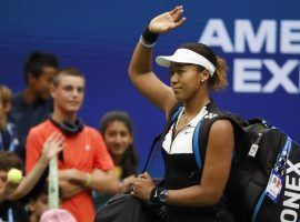Naomi Osaka was eliminated by Belinda Bencic in the fourth round of the US Open on Monday. (Image: Geoff Burke/USA Today Sports)