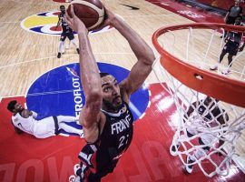 Rudy Gobert of France dunks in a victory over USA in the FIBA World Cup quarterfinals in China. (Image: NBA)