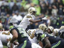 New Orleans Saints QB Teddy Bridgewater surveys the defense against the Seattle Seahawks in Week 3. (Image: Scott Eckland/AP)