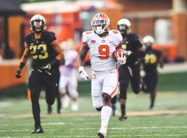 Clemson's No.1 running back Travis Etienne scored big in DFS in Week 1. He looks to repeat that performance in Week 2. (Image: Clemson Tigers)