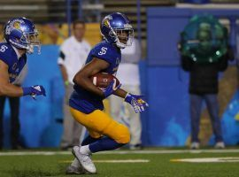 San Jose State wide receiver Tre Walker shined against Arkansas last week. He looks to put up big numbers again against Air Force. (Image: San Jose State Athletics.)
