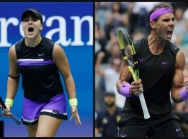 Bianca Andreescu and Rafael Nadal won the 2019 US Open titles in women's and men's singles this weekend. (Images: AP)
