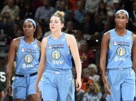 The Chicago Sky will open the WNBA playoffs as seven-point favorites over the Phoenix Mercury in their first-round contest. (Image: NBAE/Getty)