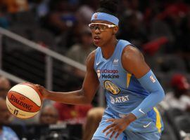 Diamond DeShields scored 25 points to lead the Chicago Sky into the second round of the WNBA playoffs. (Image: John Bazemore/AP)