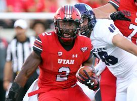 Utah running back Zach Moss was one of the DFS highlights of the weekend. (Image: University of Utah Athletics)