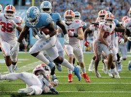 The University of North Carolina nearly upset No. 1 Clemson, and as a result AP Top 25 voters dropped the Tigers to No. 2. (Image: AP)
