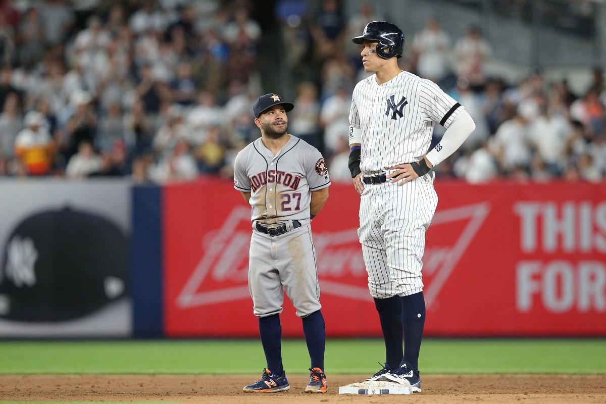 Jose Altuve Aaron Judge Yankees Astros ALCS
