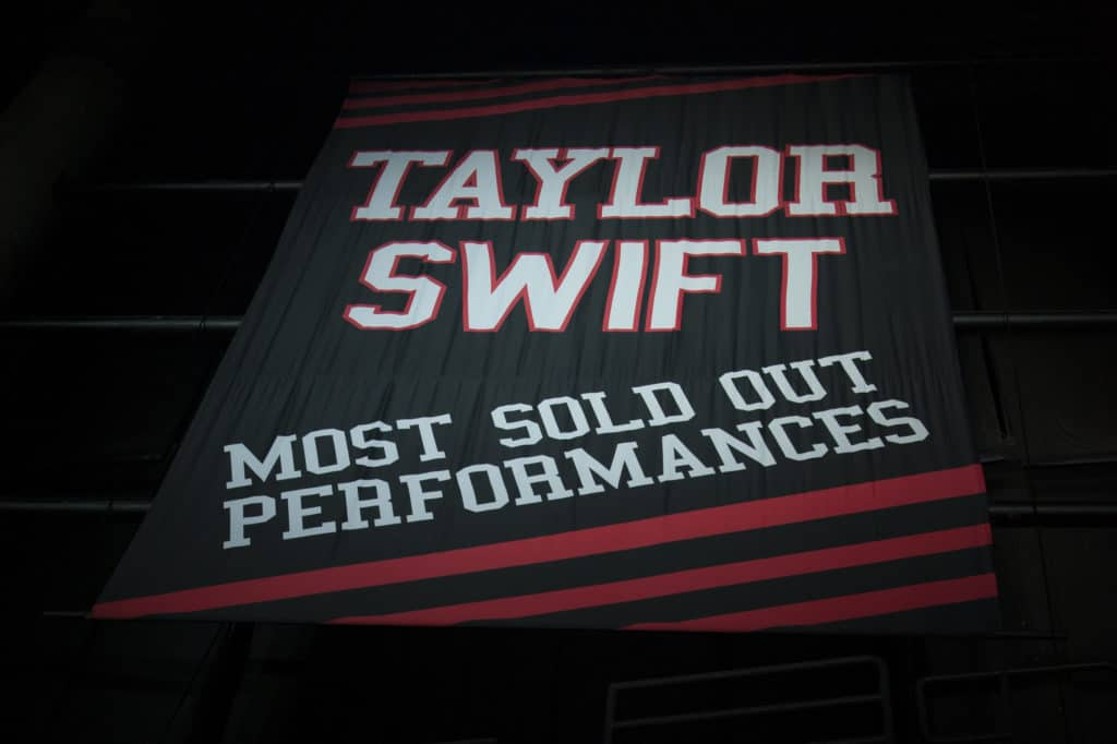 Taylor Swift banner curse LA Kings Staples