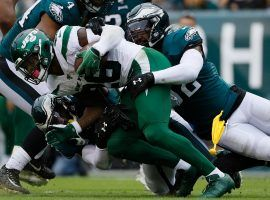 NY Jets RB Le'Veon Bell and the offense struggled against the Philadelphia Eagles in Week 5. (Image: Michael Perez/AP)
