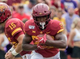 Iowa State freshman running back Breece Hall has crushed it on the field the past two weeks, Unless his DFS salary rises significantly this week he will be a must-play on Saturday (Image: Iowa State Athletics)