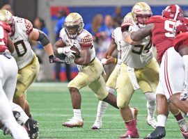 Florida State running back Cam Akers has seen his stock on the rise and is a good play against the poor Syracuse run defense this Saturday. (Image: Florida State Athletics)