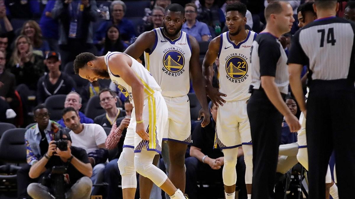 Golden State Warriors Steph Curry broken hand injury