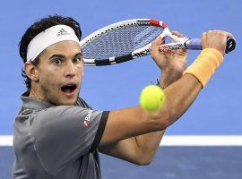 Dominic Thiem won the China Open last weekend, and clinched a spot in the ATP Finals in London as a result. (Image: Greg Baker/Getty)