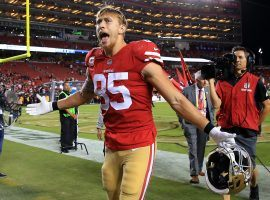 49ers tight end George Kittle could be in for a big game against the Cleveland Browns on Monday Night and should in consideration for the captain's spot in DFS showdown. (Image: Niners Nation)