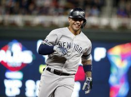 NY Yankees SS Gleyber Torres rounds the bases after a home run against the Minnesota Twins in Game 3 of the ALDS at Target Field. (Image: Bruce Kluckhohn/AP)