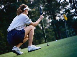 New rules on where a caddy can stand when a player is putting results in massive penalties. (Image: finlandia.com)