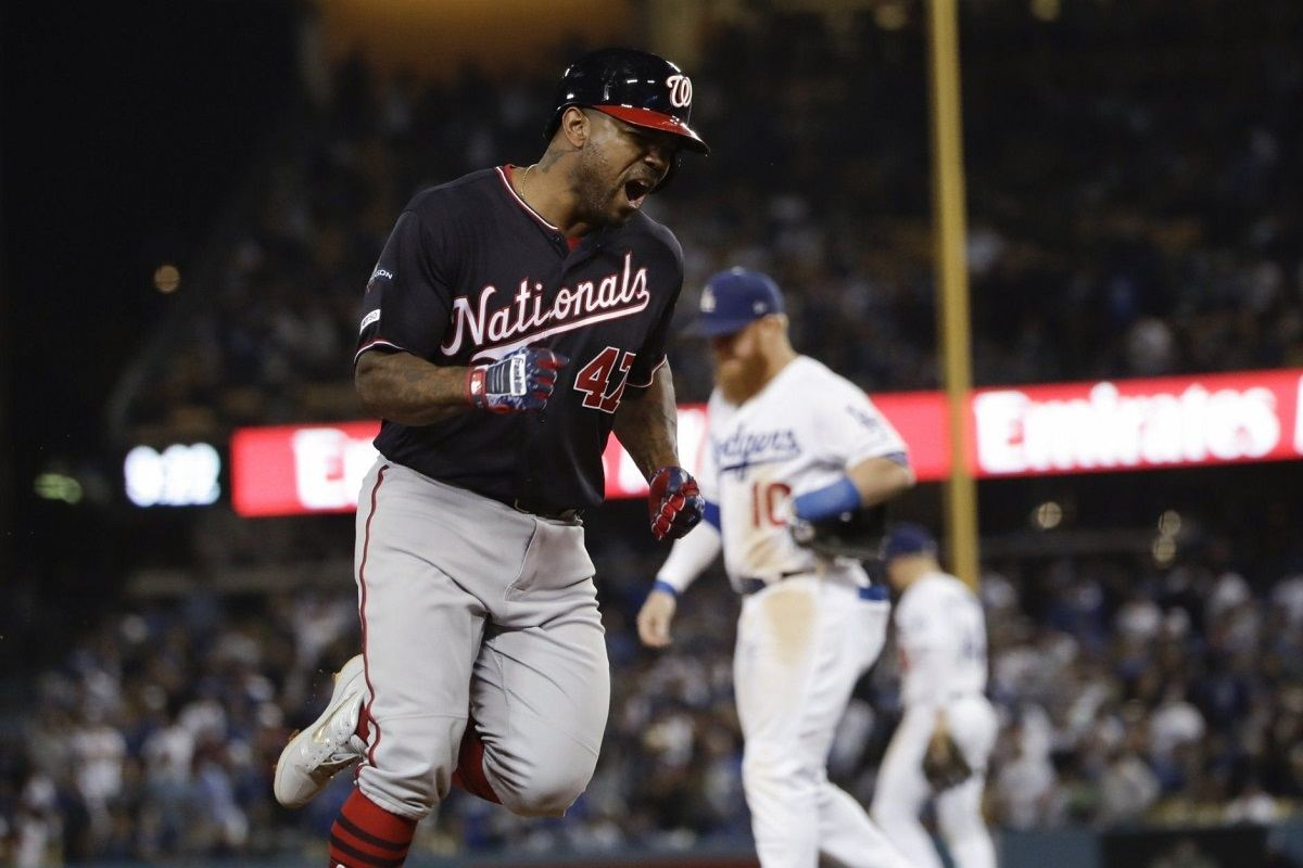 Howie Kenrick Washington Nationals grand slam upset NLDS LA Dodgers