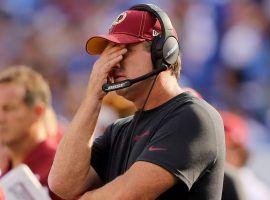 Head coach Jay Gruden on the sidelines of a Washington Redskins loss earlier in the 2019 season. (Image: Elsa/Getty)