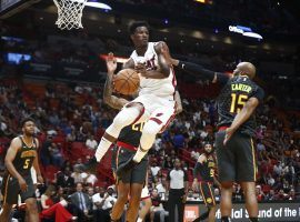Miami Heat guard Jimmy Butler drives to the basketball in a preseason game against the Atlanta Hawks. (Image: AP)