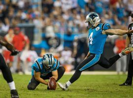 Carolina Panthers kicker Joey Slye is leading the NFL in kicking through four weeks. (Image: Mary Holt/Getty)