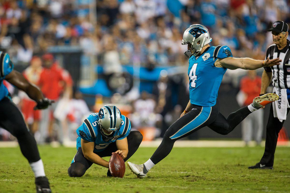 Carolina Panthers kicker Joey Slye