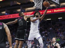 Sacramento Kings big man Marvin Bagley II dunks in a preseason game. (Image: Porter Lambert/Getty)