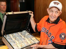Jim 'Mattress Mack' McIngvale places a $3.5 million wager on the Houston Astros to win the World Series with the Scarlet Pearl Casino in Biloxi, MS. (Image: DraftKings)
