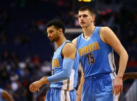 The Denver Nuggets power duo Jamal Murray and Nikola Jokic during the 2019 NBA Playoffs. (Image: Mark J. Rebilas/USA Today Sports)
